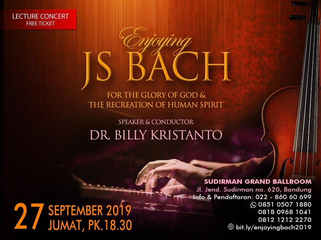 Seminar & Konser Enjoying Bach 2019